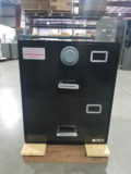 NSN#7110-01-015-2850, Class 5 (2) drawer, Legal Size, Single Lock, Black, X10 Lock